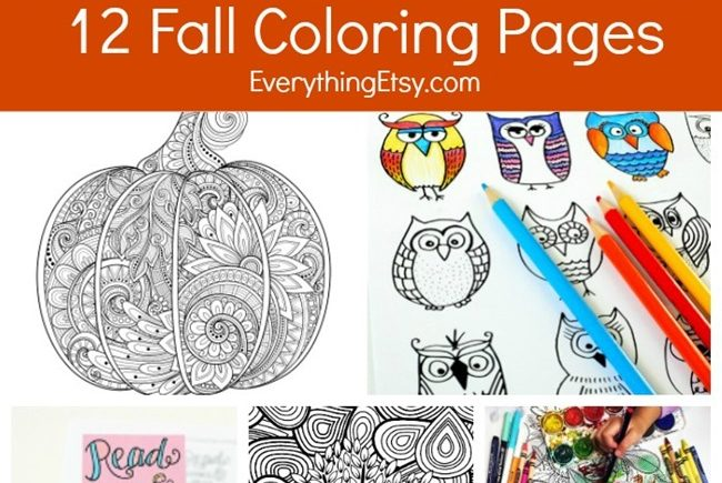 12 Fall Coloring Pages for Adults {Free Printables}