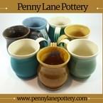 handmade pottery mugs, bowls, & plates