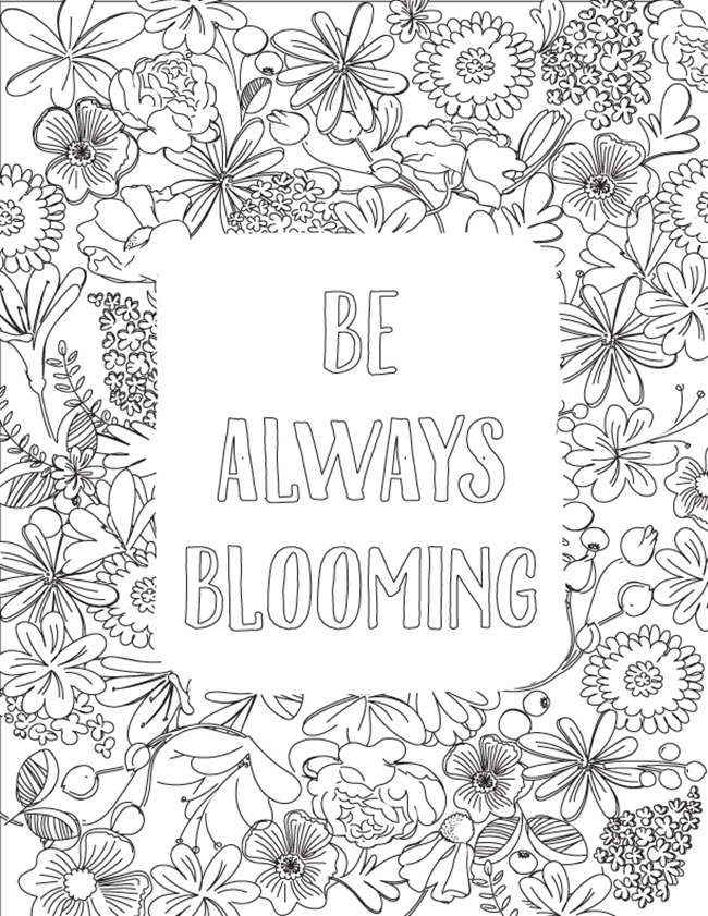 Be-Always-Blooming-Coloring-Page