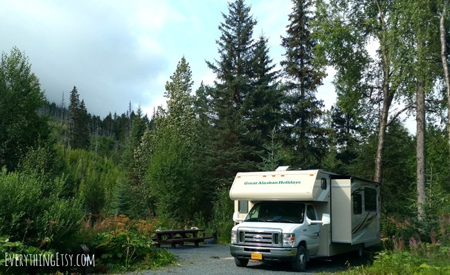 Camping in Alaska - Motorhome Style - EverythingEtsy.com
