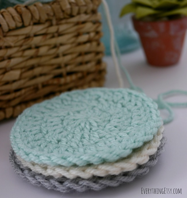 Circle Washcloth Crochet Pattern on EverythingEtsy.com