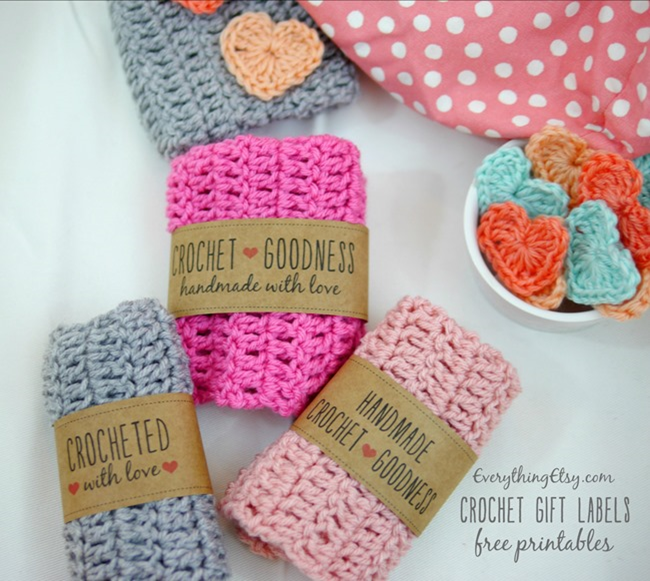Crochet labels for your handmade gifts - Free on EverythingEtsy