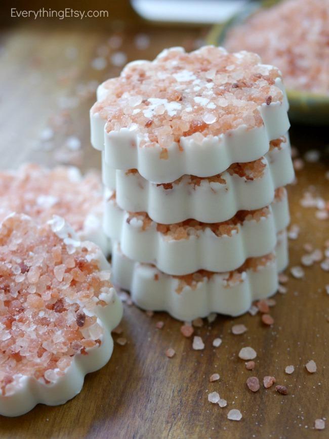Easy DIY Salted Soap Tutorial on EverythingEtsy.com