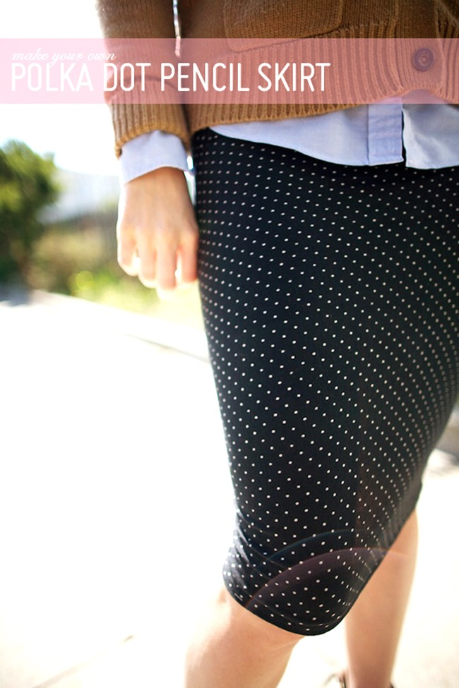 Fall Skirt Tutorials - Pencil Skirt