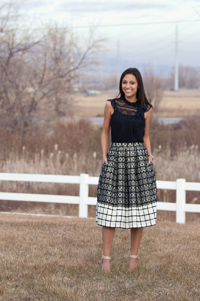 Fall Skirt Tutorials - Plaid Midi Skirt