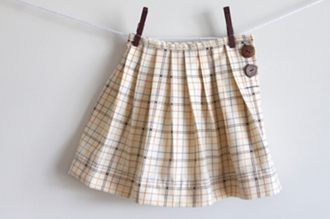 Fall Skirt Tutorials - Pleated