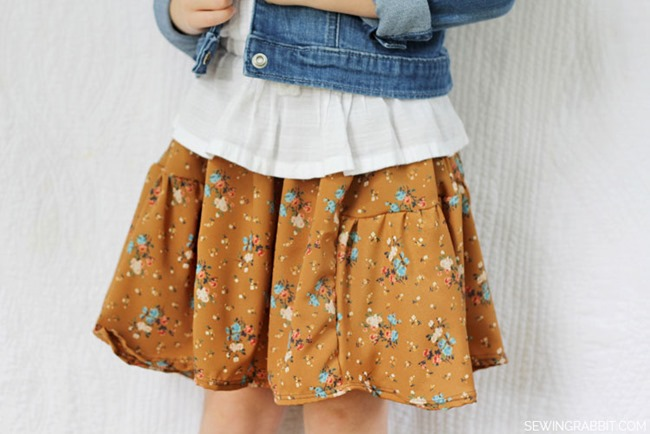 Fall Skirt Tutorials - Side Bustle Kids Skirt
