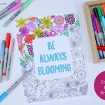Be Always Blooming Adult Coloring Page Printable