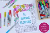 Be Always Blooming Adult Coloring Page Printable