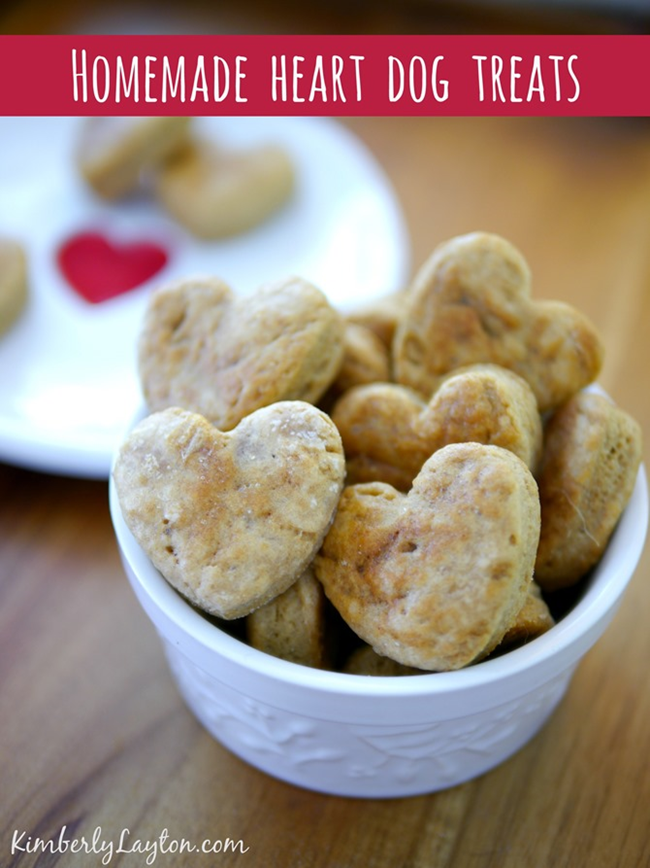 Homemade Heart Dog Treats - Recipe at KimberlyLayton