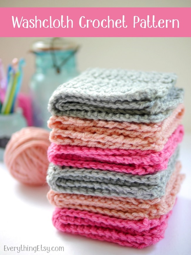 Washcloth Crochet Pattern - Free on EverythingEtsy.com - plus tons of other tutorials!