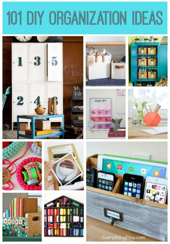 101 DIY Organization Ideas to try today! EverythingEtsy