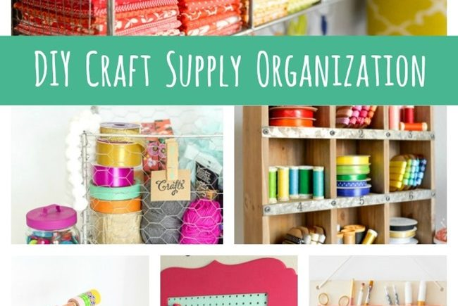 DIY Craft Supply Organization