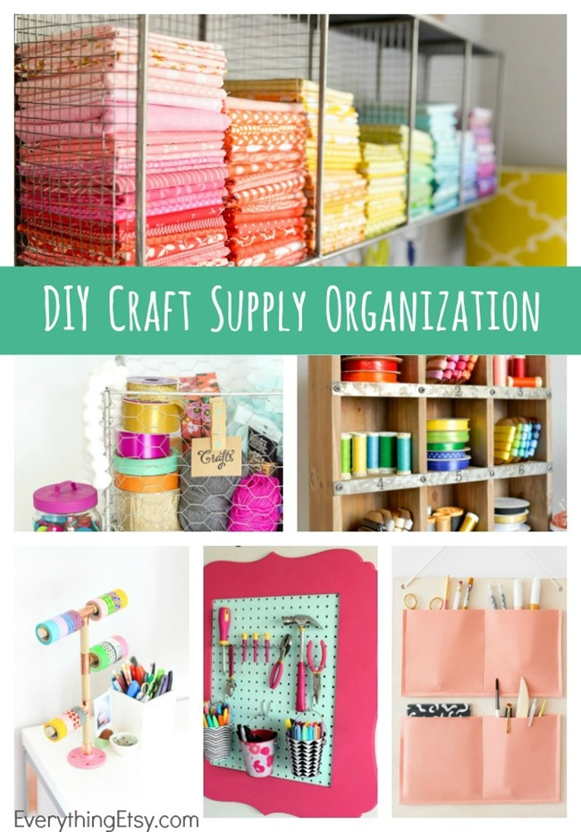 7 DIY Craft Supply Organization Ideas - This are simply beautiful! EverythingEtsy.com