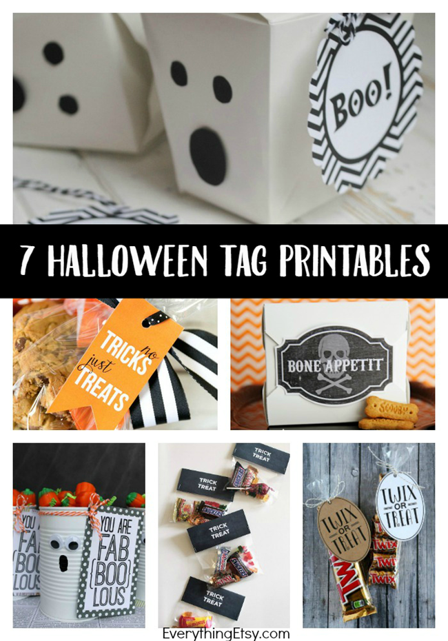 7 Halloween Printables - Treat Tags on EverythingEtsy