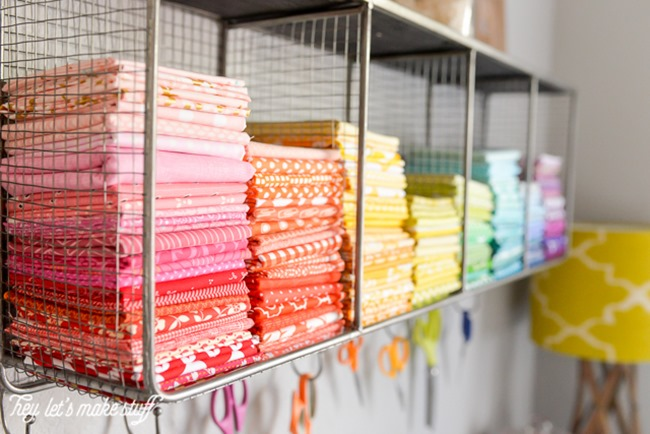 DIY Craft Supply Organization - Fabric Holder