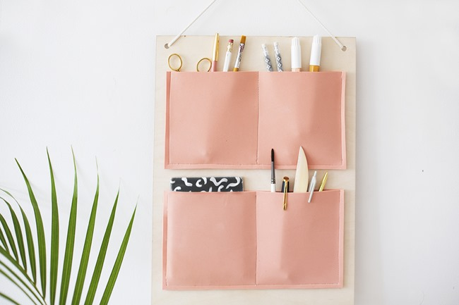 DIY Craft Supply Organization - Hanging Pockets