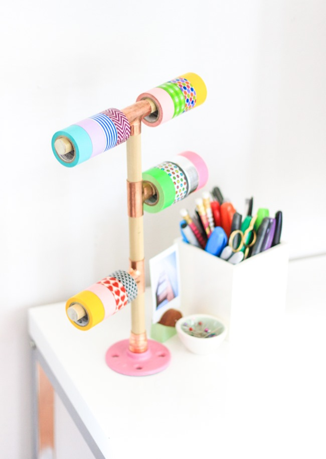 DIY Craft Supply Organization - Washi Tape Holder