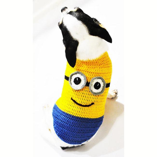 Handmade Pet Costume - Minions