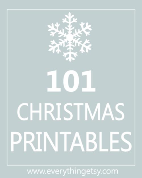101 Free Christmas Printables - EverythingEtsy
