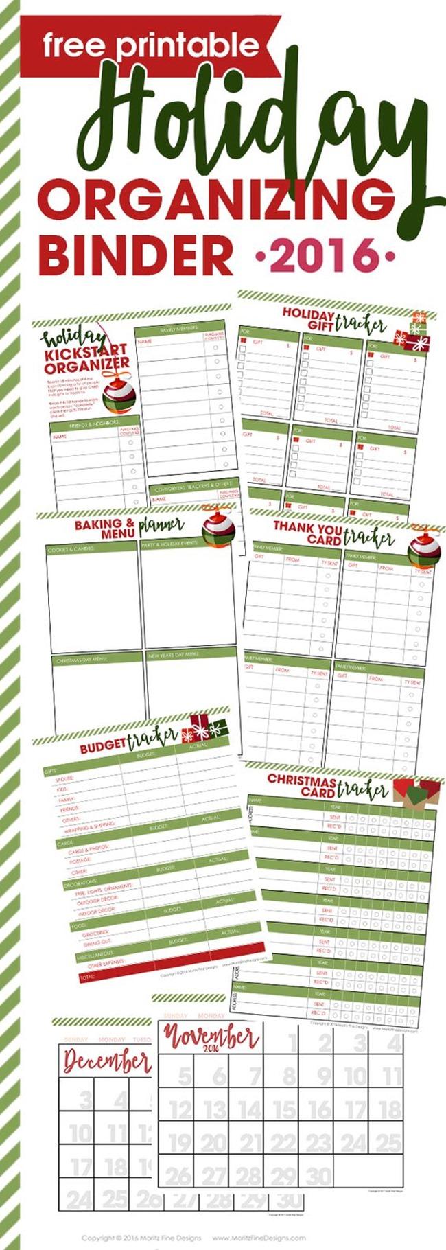 Free Christmas Planner Printable - Organization Binder