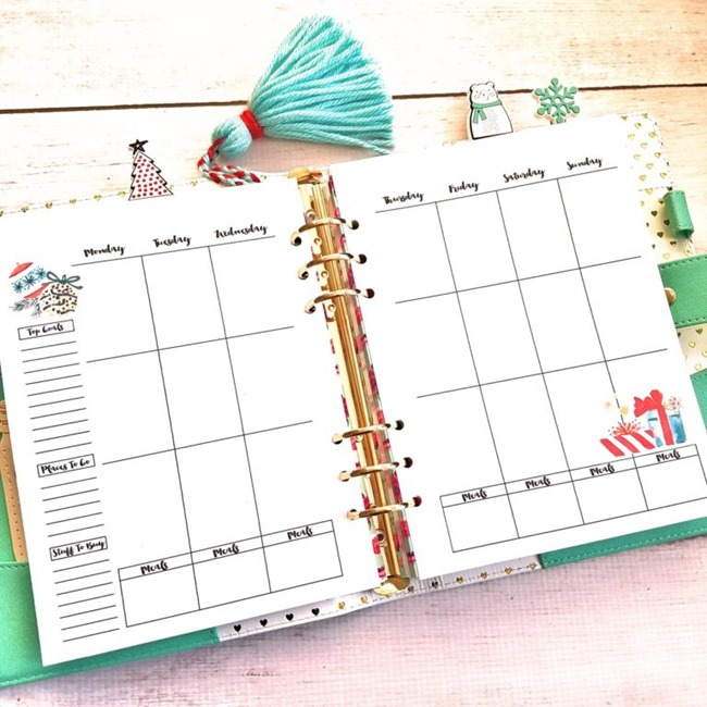Free Christmas Planner Printables - A5 Monthly