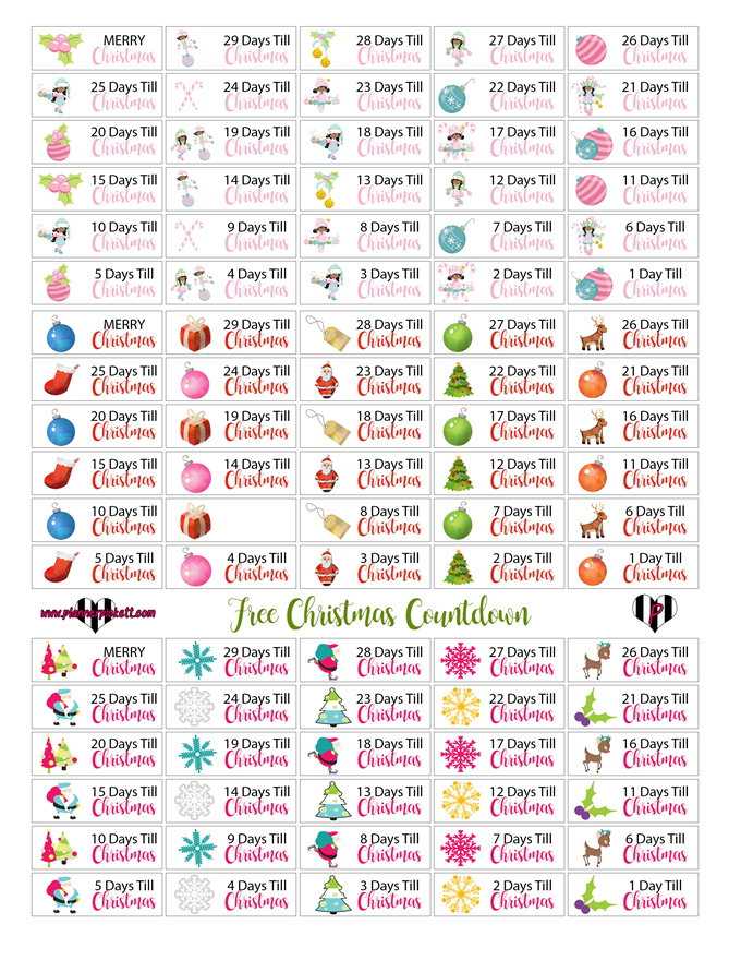 Free Christmas Planner Printables - Countdown to Christmas