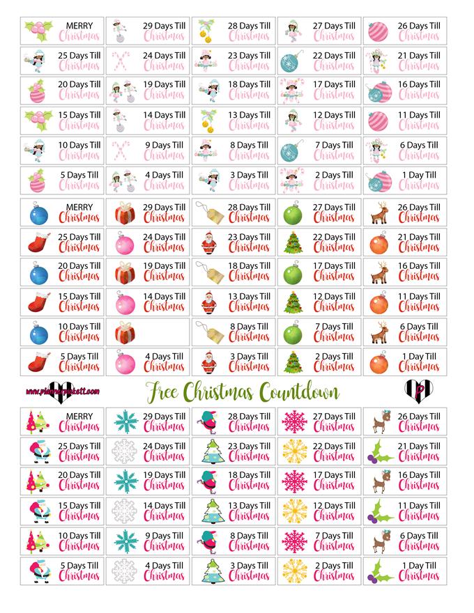 Free Christmas Planner Printables - Countdown to Christmas