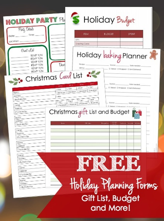Free Christmas Planner Printables - Party Planner and more!