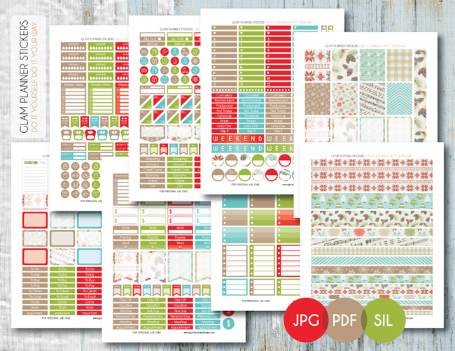 Free Christmas Planner Printables - Seasonal Stickers