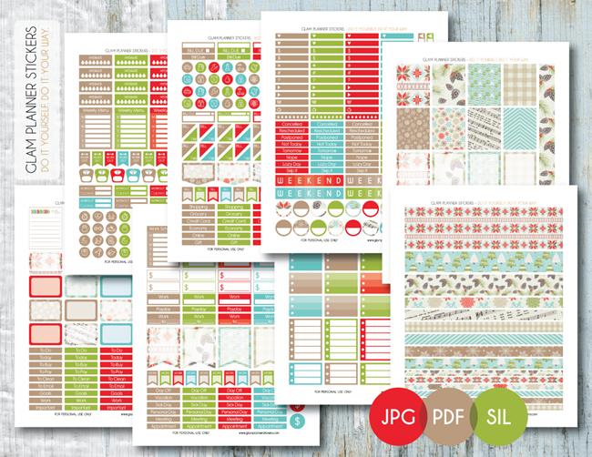Free Christmas Planner Printables - Seasonal Stickers