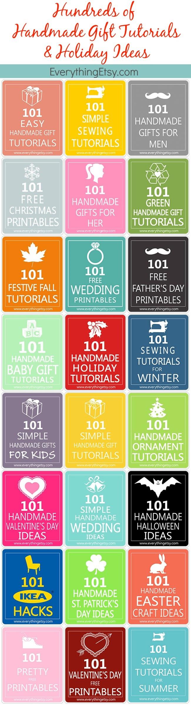 Handmade Gift Tutorials - Hundreds of Them!  EverythingEtsy
