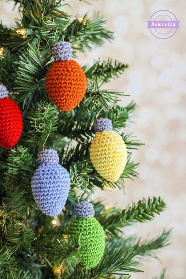 Christmas Crochet Patterns - Free Project Ideas! - Christmas Light Ornaments