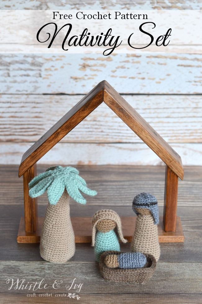 Christmas Crochet Patterns - Free Project Ideas! - Nativity Set