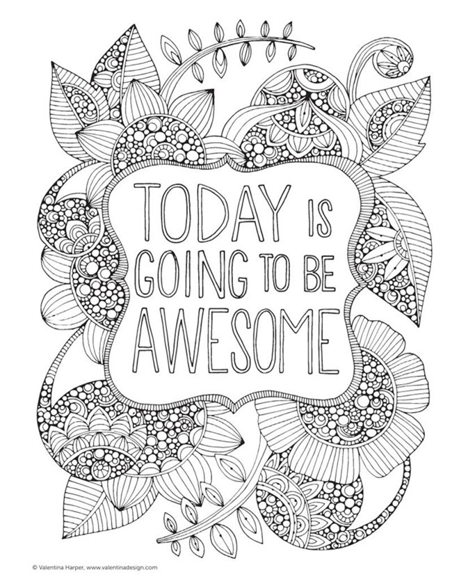 12 Inspiring Quote Coloring Pages for Adults - Be Awesome