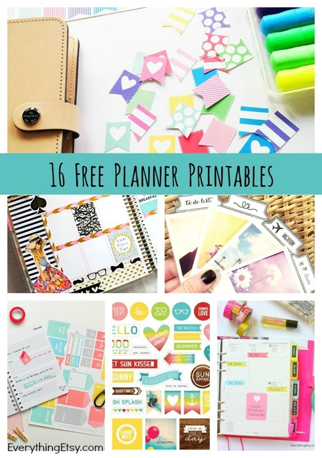 16 Free Planner Printables - Stickers and More