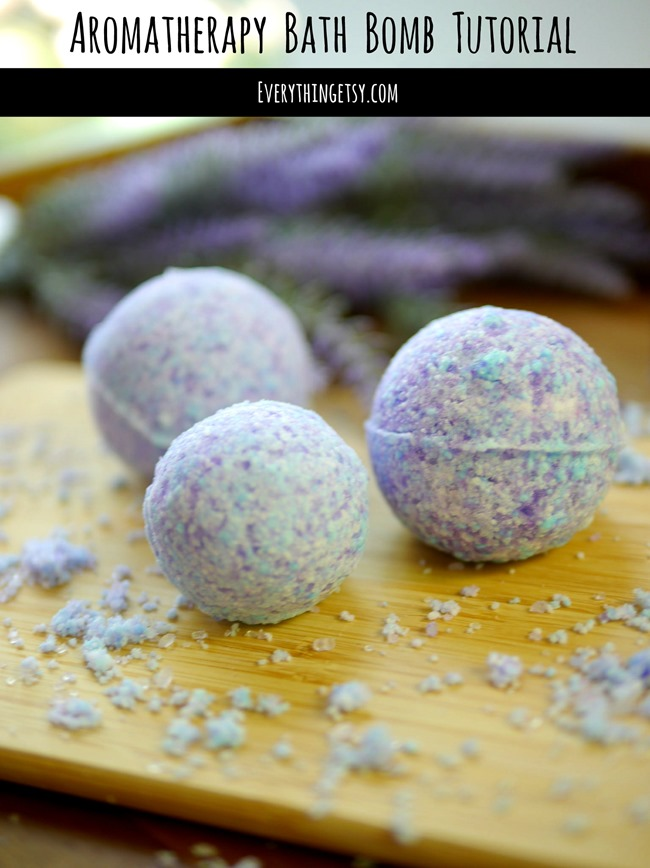 Aromatherapy Bath Bomb Tutorial -- EverythingEtsy.com