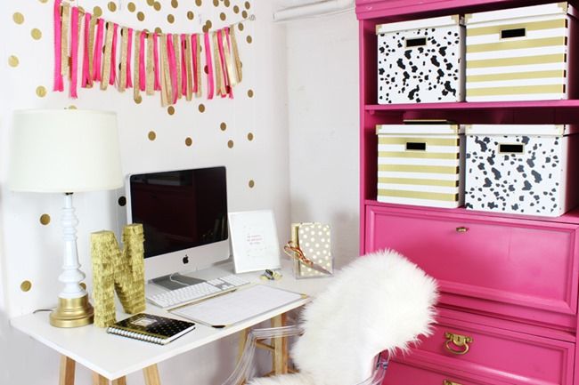 Craft Room Organization & Inspiration - Gold