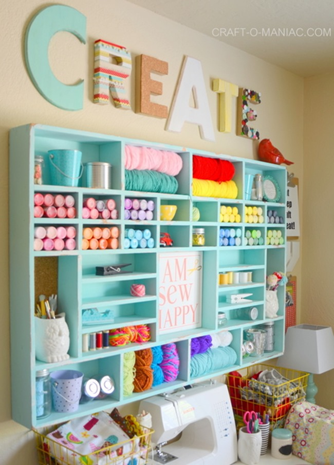 Craft Room Organization & Inspiration - Yarn Holder