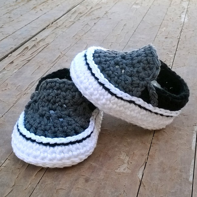 Crochet Patterns on Etsy - Baby Sneakers