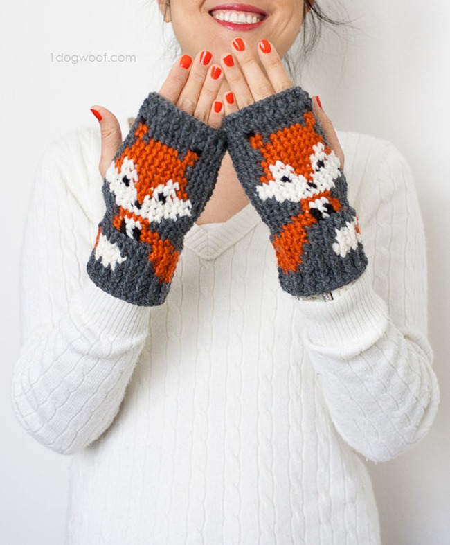 Crochet Patterns on Etsy - fox gloves
