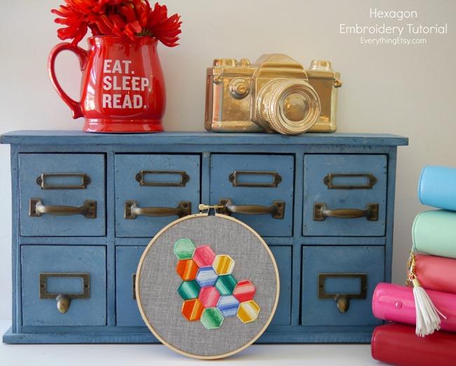 Hexagon Embroidery Tutorial - EverythingEtsy.com
