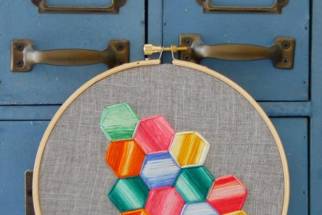 Hexagon Embroidery Tutorial
