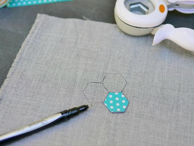 hexagon embroidery tutorial 1 - EverythingEtsy.com