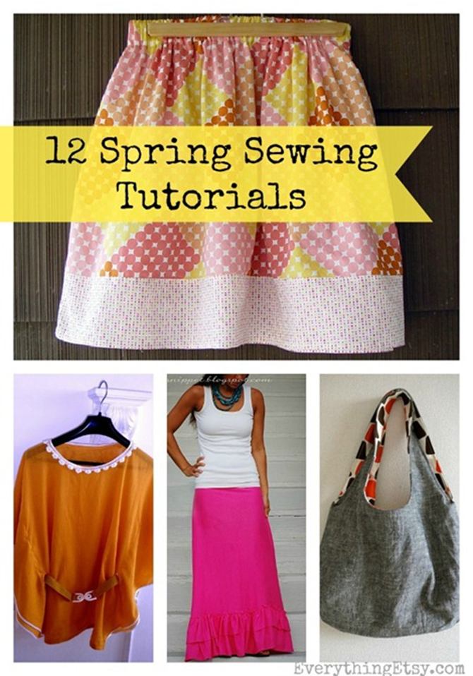 12 Spring Sewing Tutorials to Make Now!  EverythingEtsy