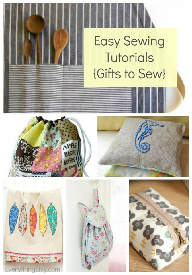 21 Easy Sewing Tutorials - Great Gifts!  EverythingEtsy