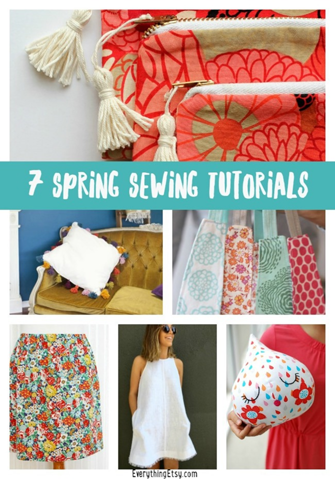 7 Spring Sewing Tutorials You'll Love! EverythingEtsy