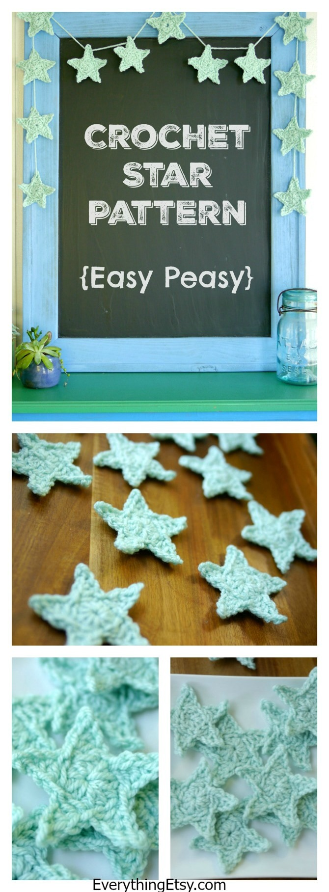 Crochet Star Pattern {Free} on EverythingEtsy.com