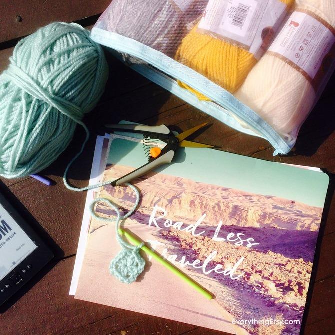 Crochet while traveling in an RV - Alaska Trip