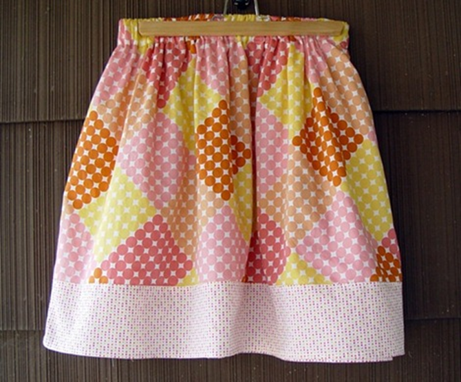 Simple Spring Skirt Sewing Tutorial on EverythingEtsy